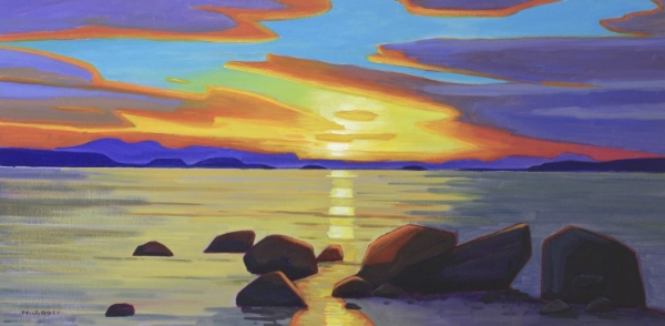 West Coast Eventide 20 x 40 Acrylic on Canvas SOLD