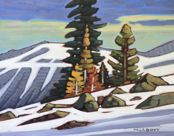 Towards Blackcomb Mountain 11 x 14 Oil on Canvas SOLD