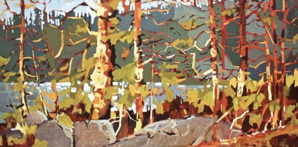 Lake Dawn 30 x 60 Acrylic on Canvas $ 4525.00 (framed)