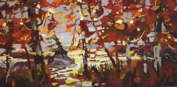 Branches of Tlell 30 x 60 Acrylic on Canvas  SOLD