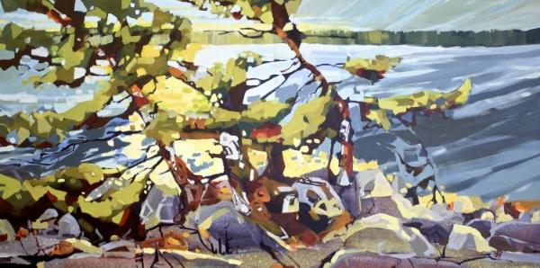Morning Light 36 x 72 Acrylic on Canvas SOLD