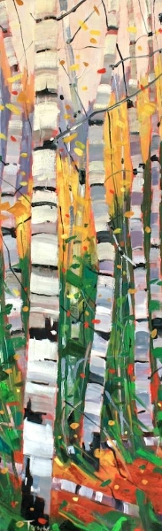 Swing Dance<br>36 x 12<br>Oil on Canvas<br>$ 1950