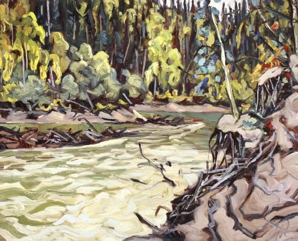 Yukon River Slough 24 x 30 Oil on Canvas SOLD