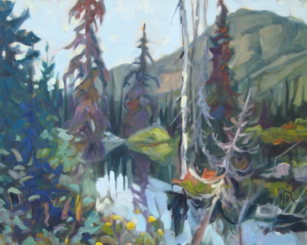 """Spruce and Slump - Dempster Highway"" 24 x 30 Oil on Canvas SOLD"