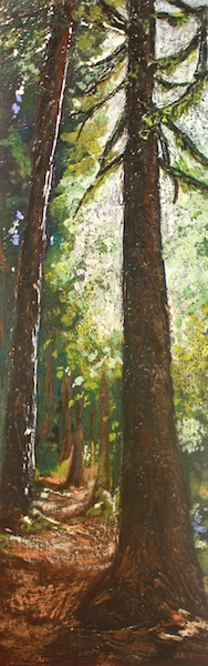 Path to the Lake<br>48 x 16<br>Encaustic and Mixed Media on Canvas<br>$ 2300