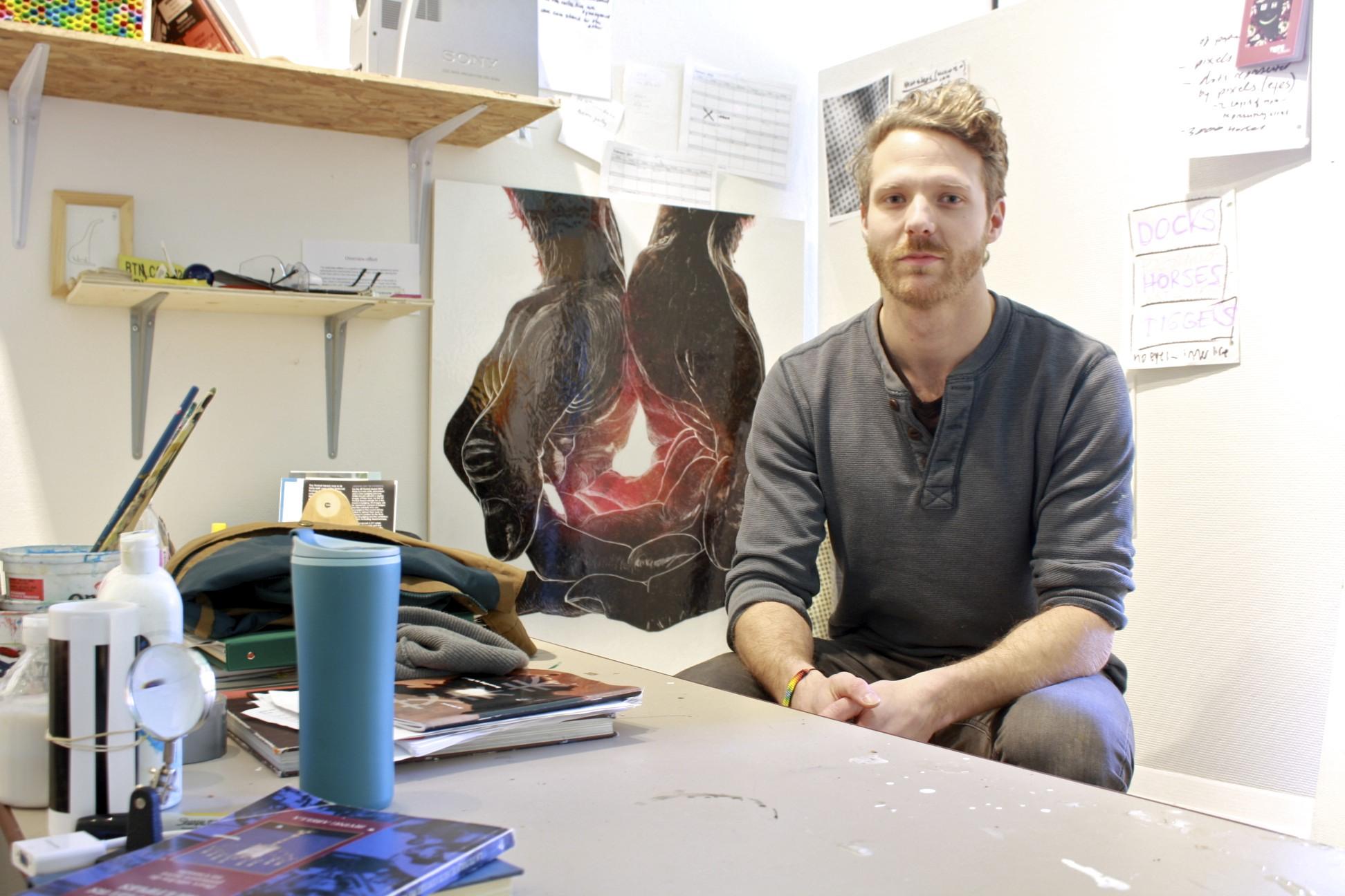 Nic Vandergugten, Fine Arts Building, UVic, Studio Space, Feb 2015