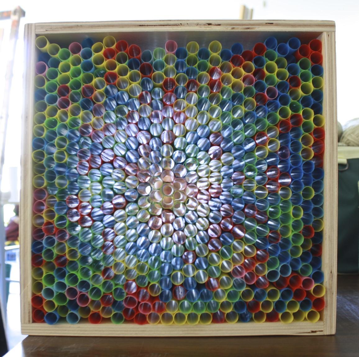 Nic Vandergugten, Straw Light Box Experiment, Feb 2015