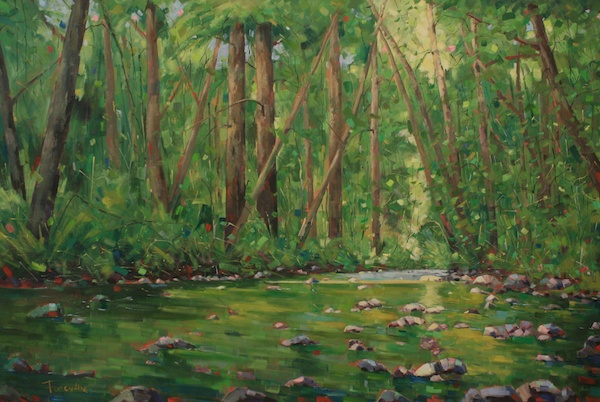 Green Symphony<br>48 x 72<br>Oil on Canvas<br>$ 8000