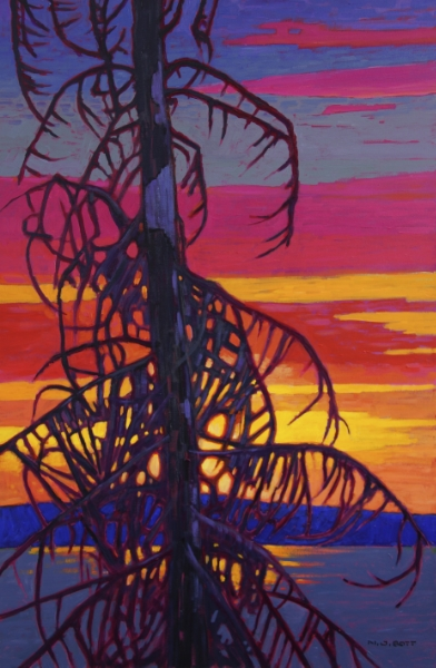 Day Break - Babine Lake  36 x 24  Acrylic on Canvas  SOLD