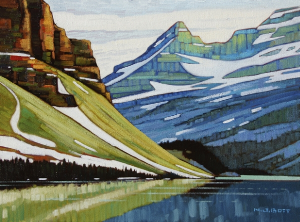 Morning Light - Bow Lake 18 x 24 Oil on Canvas SOLD
