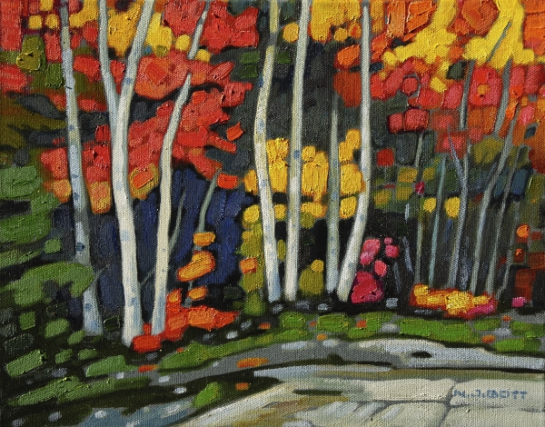 Autumn Ambience 11 x 14 Oil on Canvas $ 1500.00 (framed)