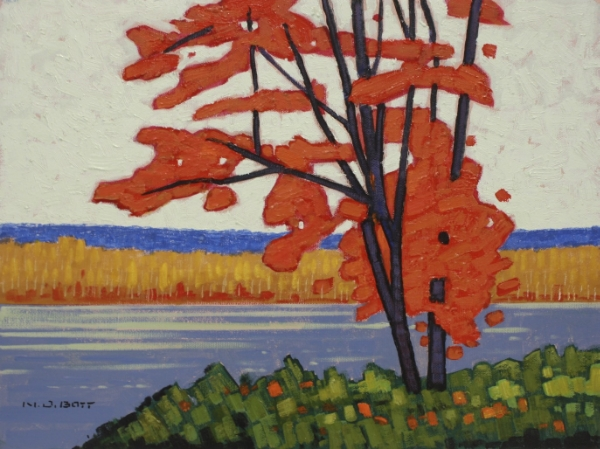 October Maple 12 x 16 Acrylic on Canvas SOLD