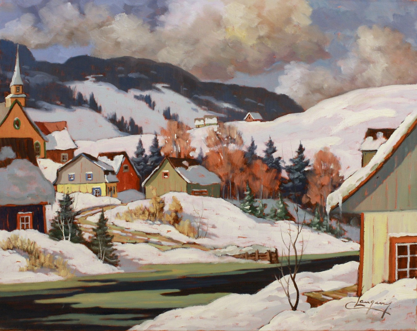 Journee de Fevrier  24 x 30  Oil on Canvas  SOLD