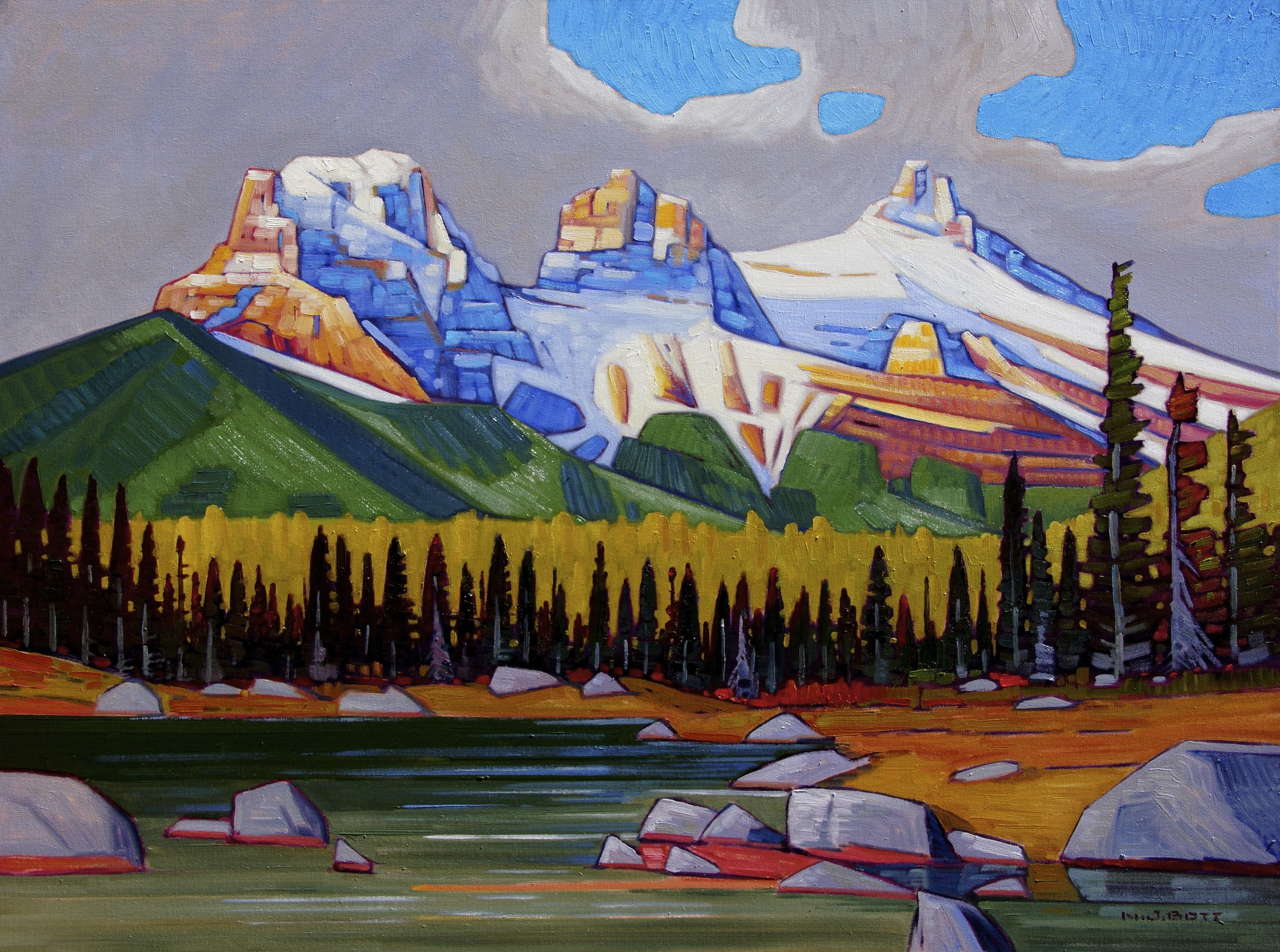 The Three Sisters 30 x 40 Oil on canvas SOLD