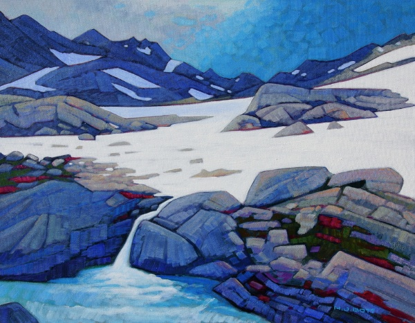 High in the Babine Mountains 22 x 28 Acrylic on Canvas SOLD