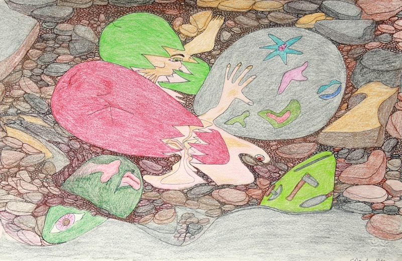 Untitled (148-1002)  13.5 x 20  Graphite, Ink, Coloured Pencil on Paper  SOLD