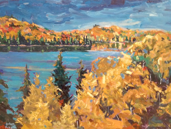 Autumn Tapestry<br>18 x 24<br>Oil on Canvas<br>$ 1600