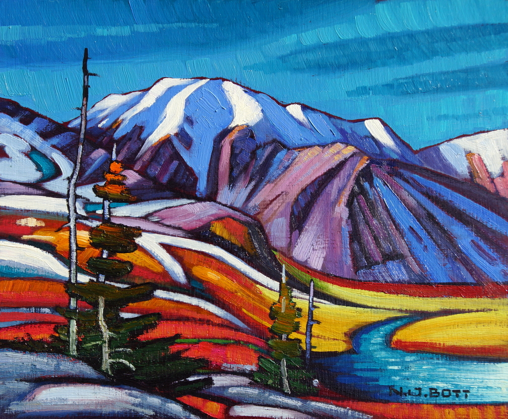 Alpine Fall 10 x 12 Oil on Board SOLD