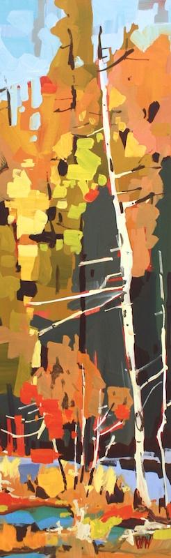 Wetlands Tartan 36 x 12 Acrylic on Canvas SOLD