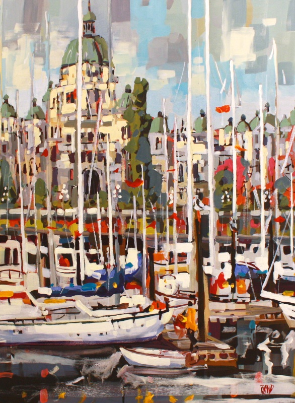 Inner Harbour Mosaic 40 x 30 Acrylic on Canvas SOLD