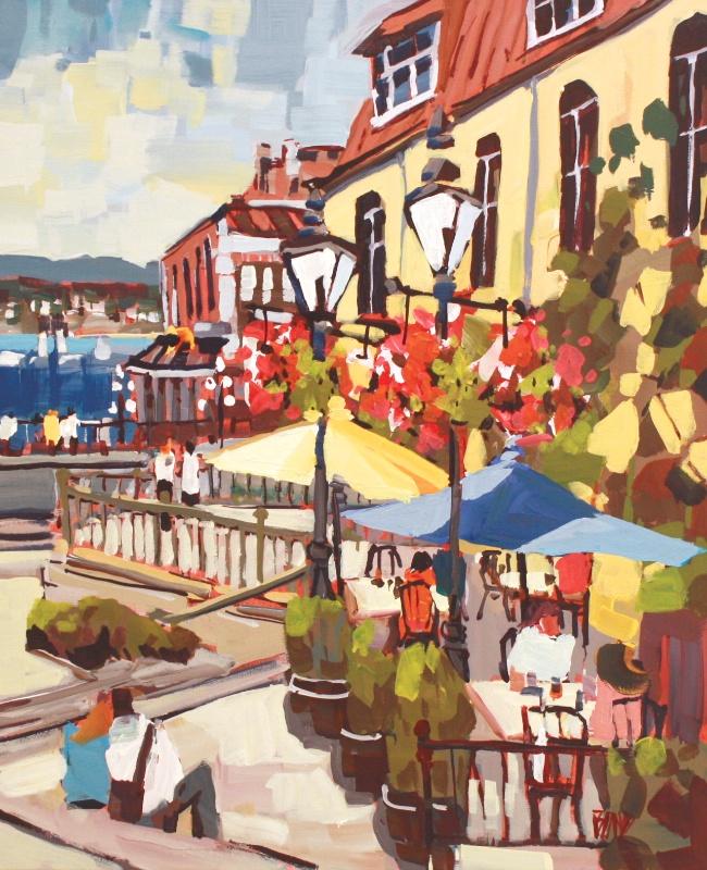 Promenade (Bastion Square) 24 x 20 Acrylic on Canvas SOLD