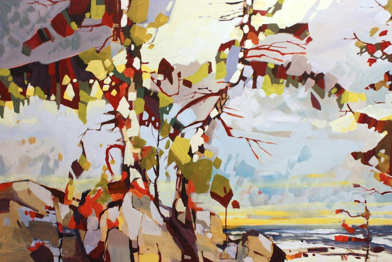 Shoreline Sentinels 40 x 60 Acrylic on Canvas SOLD