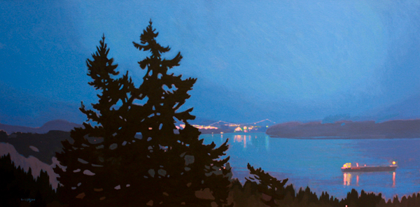 West Vancouver Nocturne 24 x 48 Acrylic on Canvas SOLD