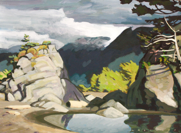 Ragged Rocks, Nootka Sound 11 x 15 Acrylic on Board SOLD