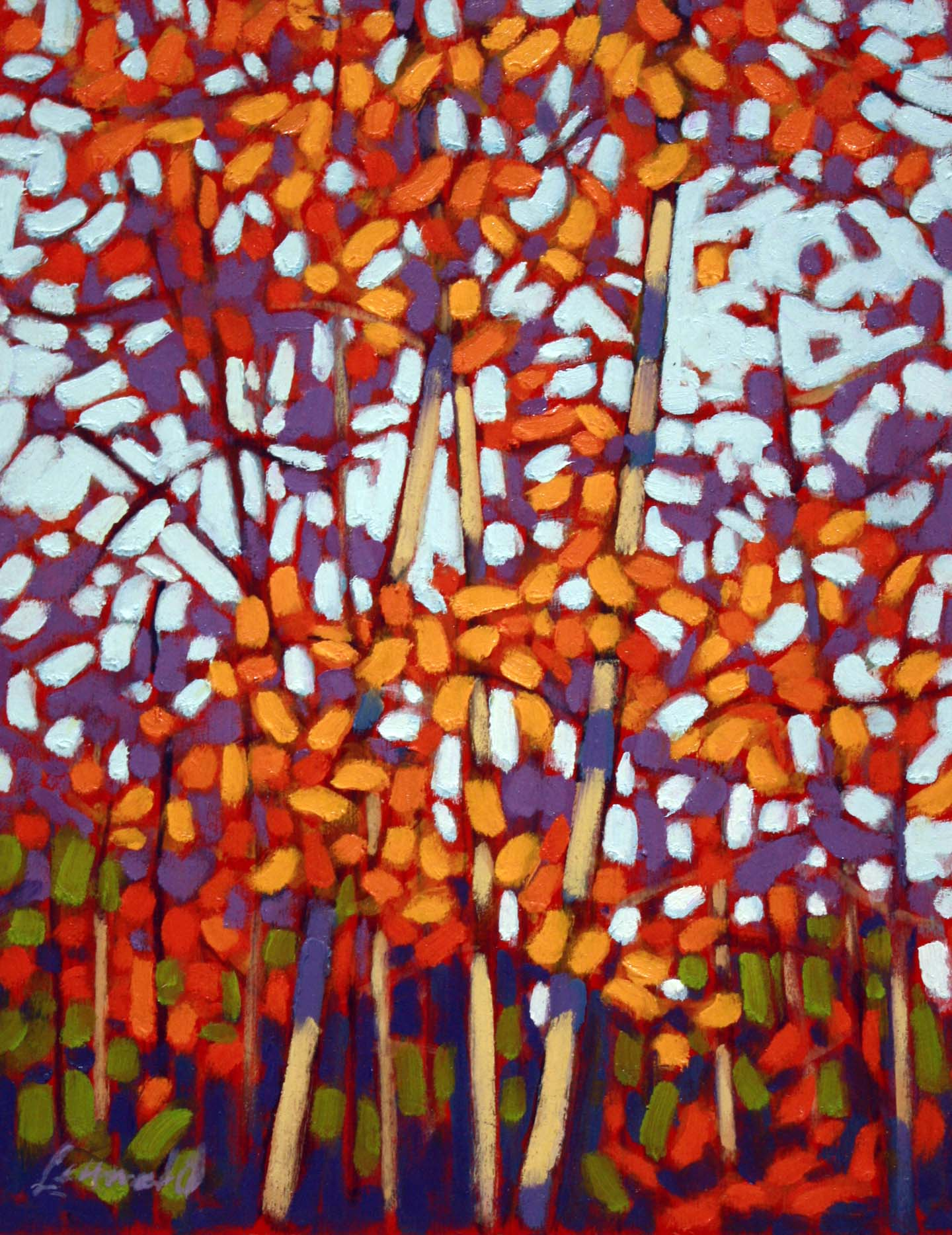 Autumn Leaves 10 x 8 Oil on Board SOLD