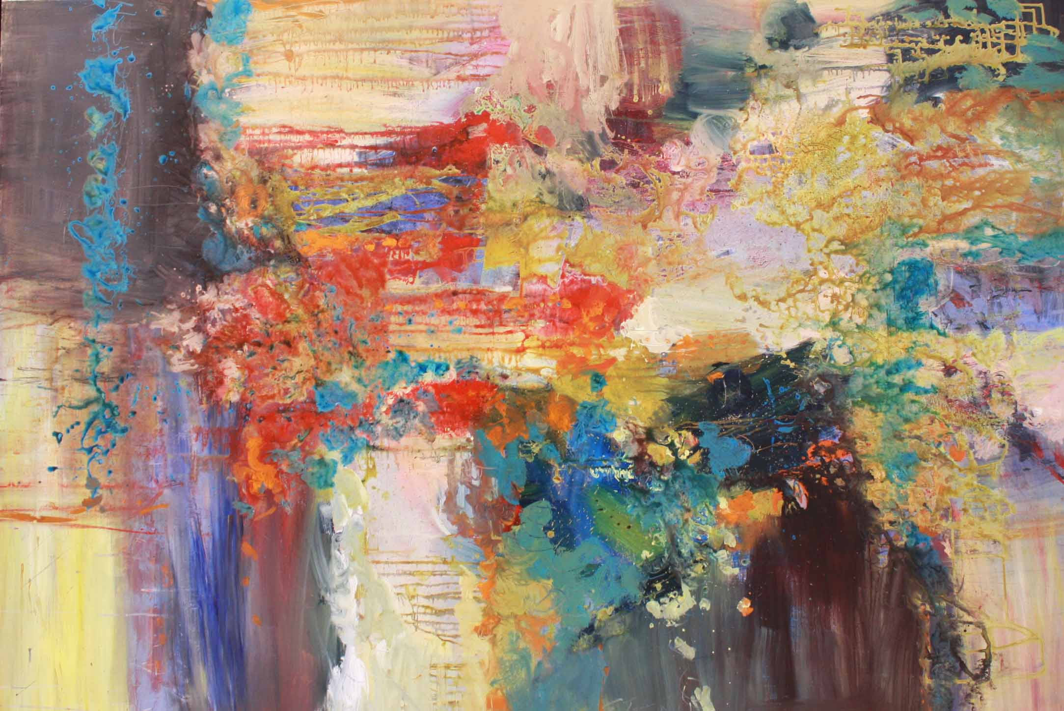 Richard Strauss -Four Last Songs - Im Abendrot 54x80 Acrylic on Canvas SOLD