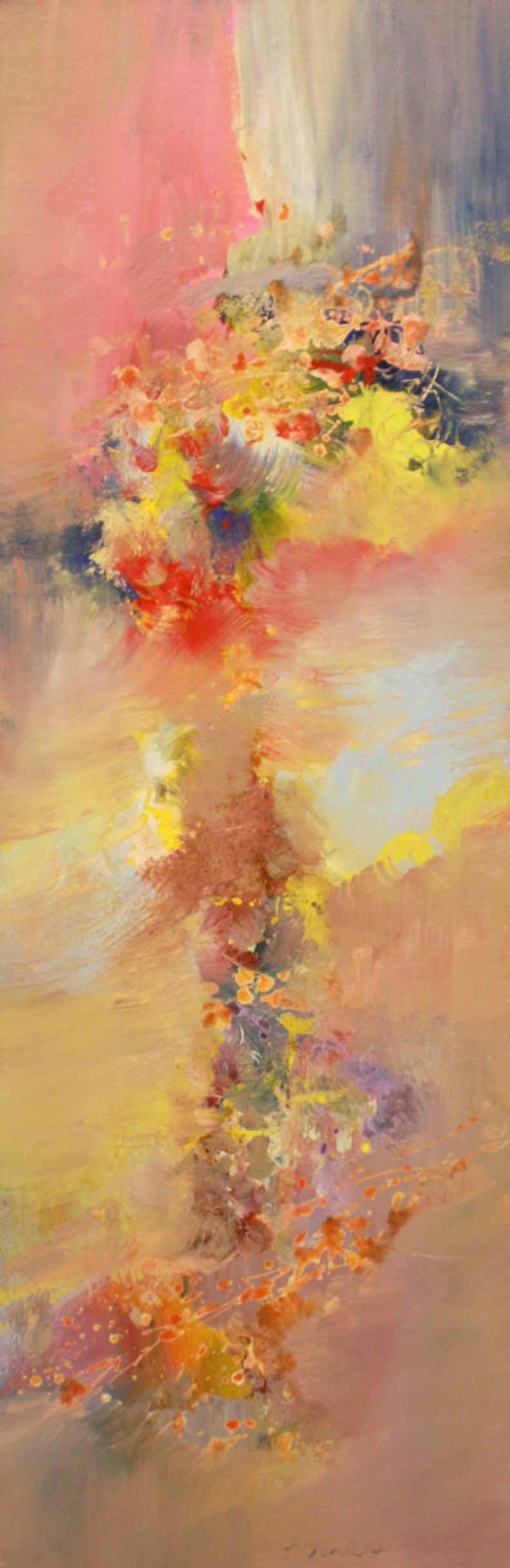 Johannes Brahms -PianoQuartet Op.25 #2 42x14 Acrylic on Canvas SOLD