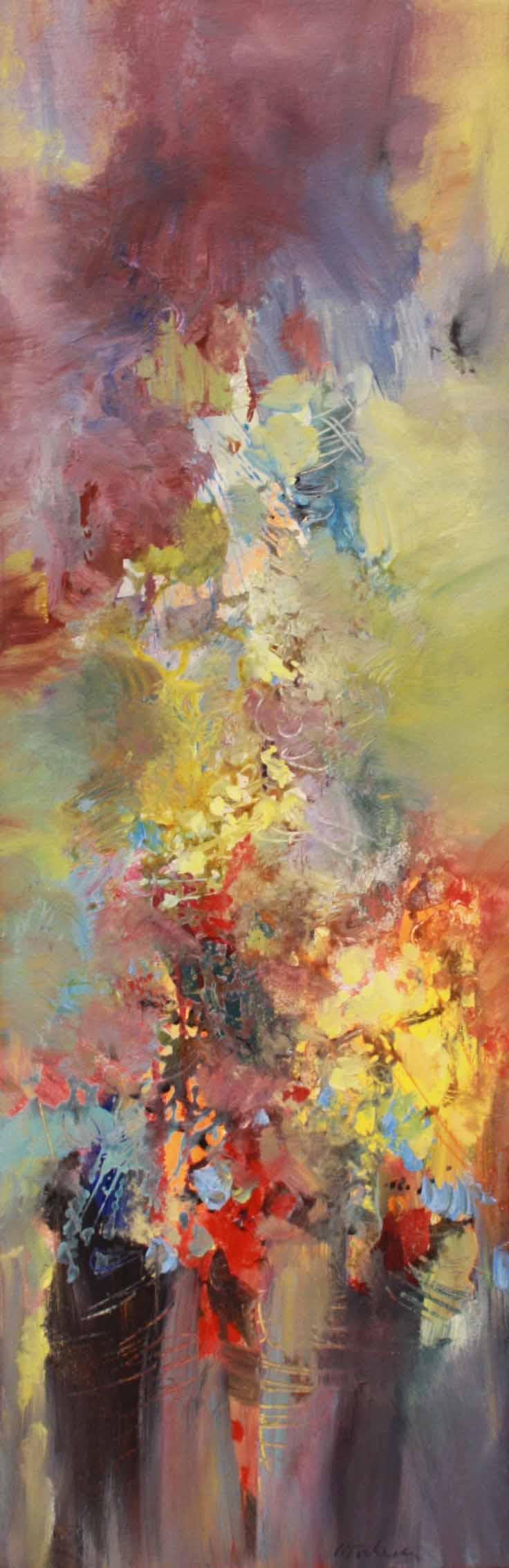 Johannes Brahms -PianoQuartet Op.25 #4 42x14 Acrylic on Canvas SOLD