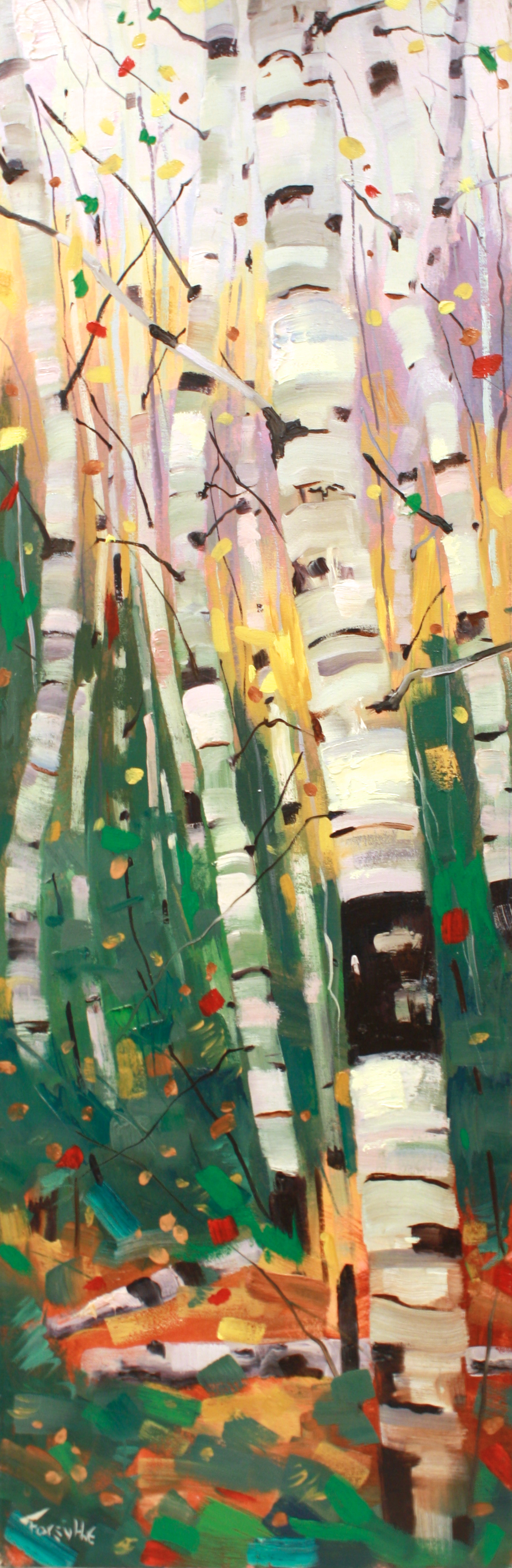 Tango<br>36 x 12<br>Oil on Canvas<br>$ 1950