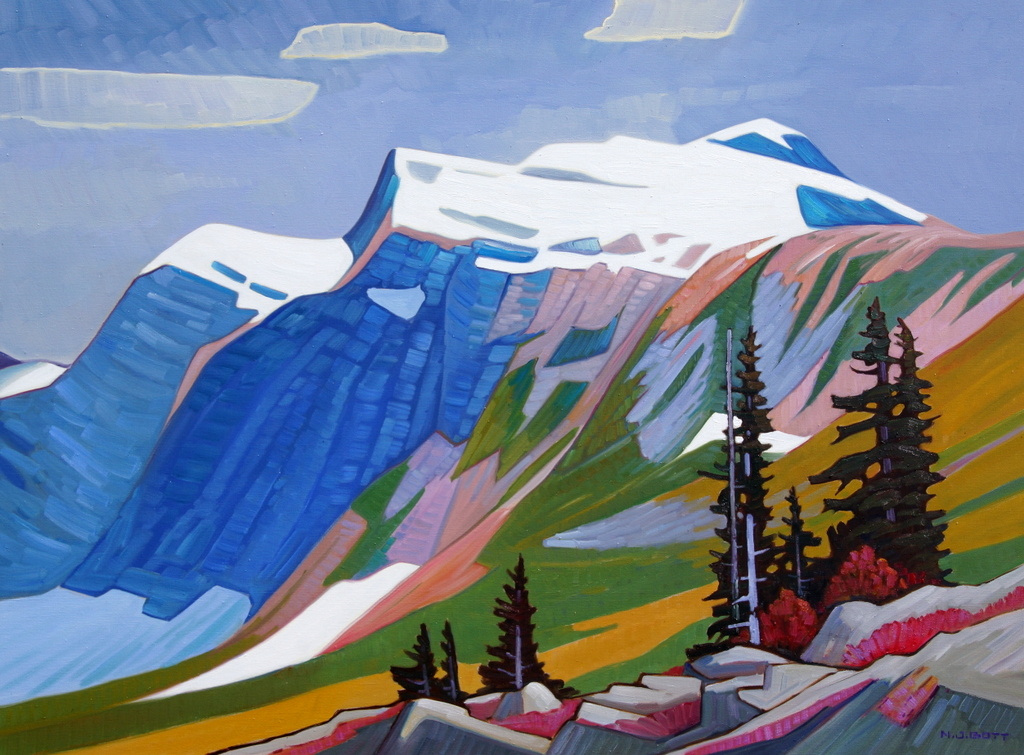 Krypton Peak Scenery 36 x 48 Oil on Canvas SOLD