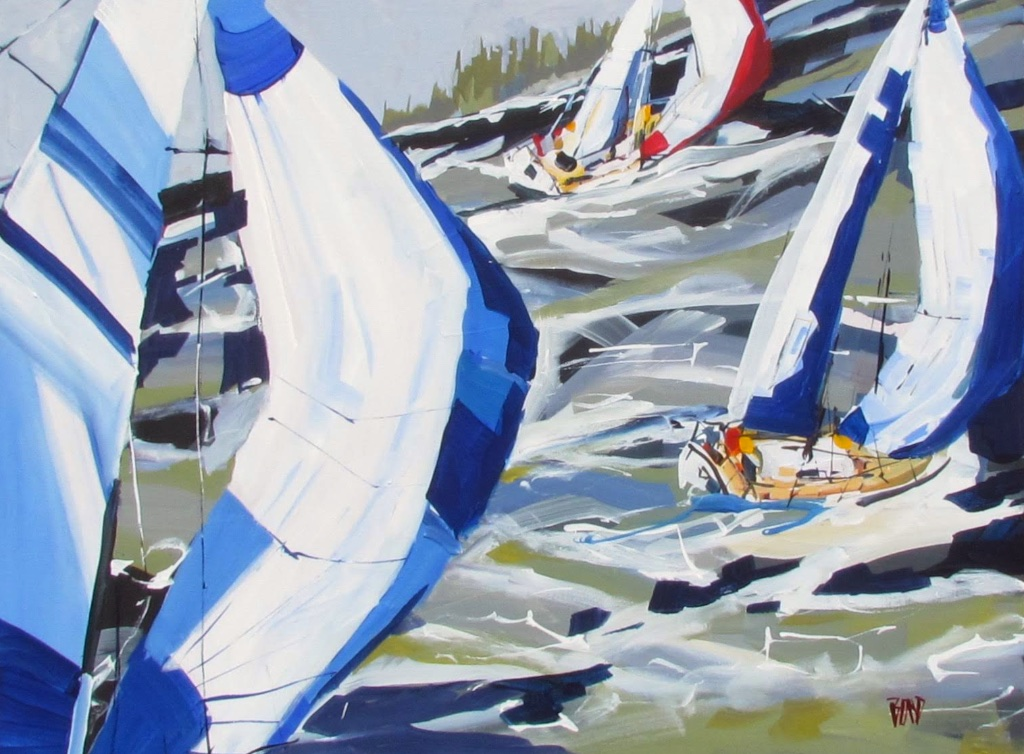 Windward 30 x 40 Acrylic on Canvas $ 3550 (framed)