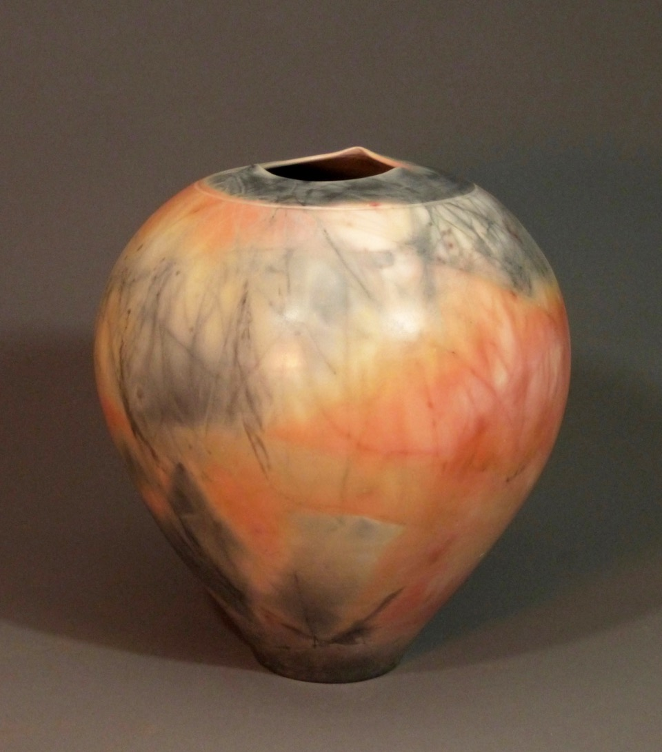 Vessel 13 x 12 Saggar Fired Ceramic SOLD