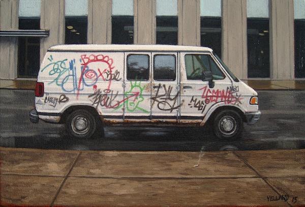Vandalism 3<Br>8 x 12<Br>Oil on Canvas<Br>