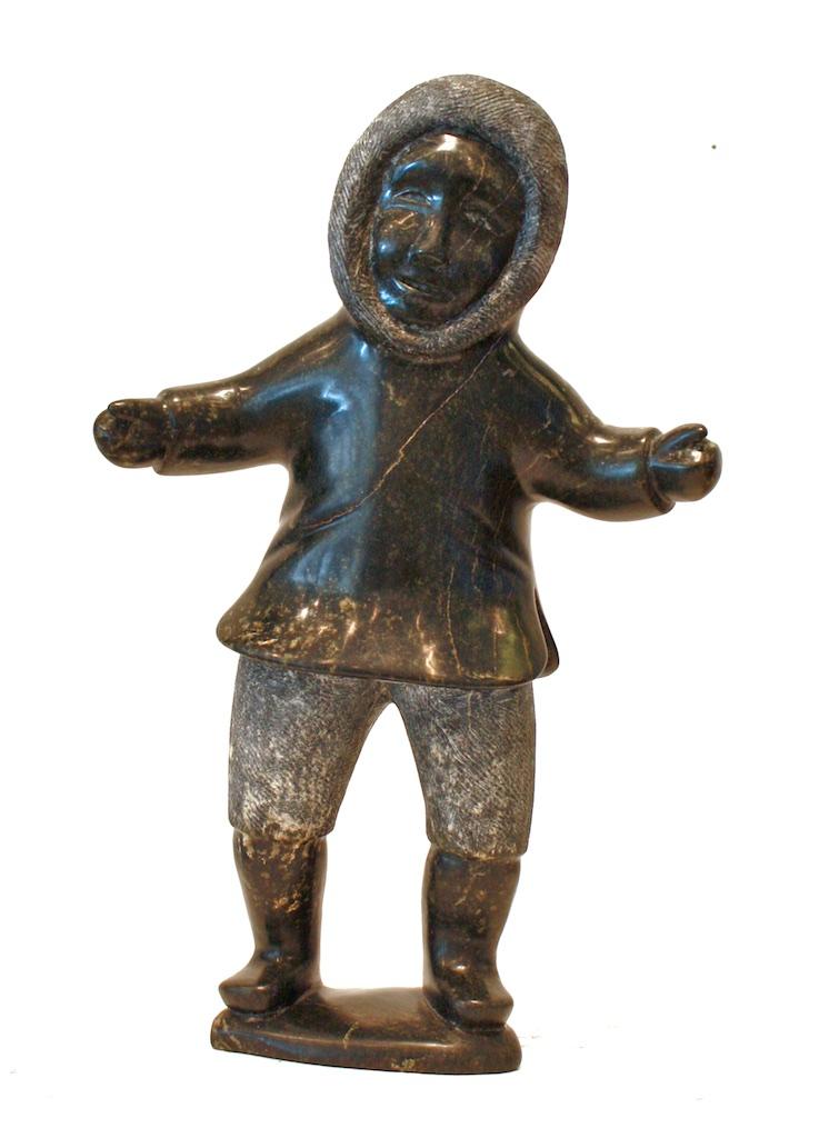 Dancing Figure  4.5 x 10 x 4  Serpentine  SOLD