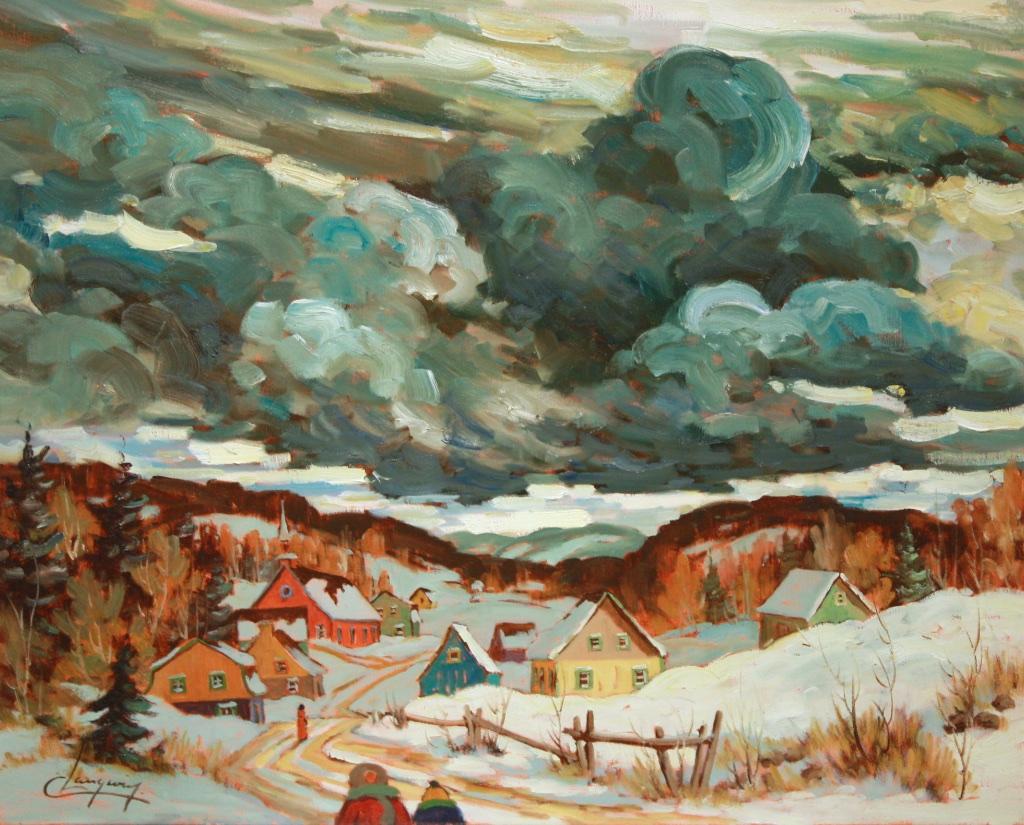 Nuages de Tempête  24 x 30  Acrylic on Canvas  SOLD