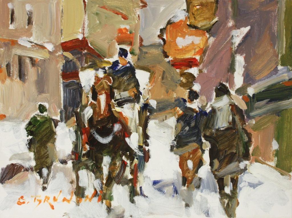 St. Paul st. Montreal 12 x 16 Acrylic on Canvas $ 1375