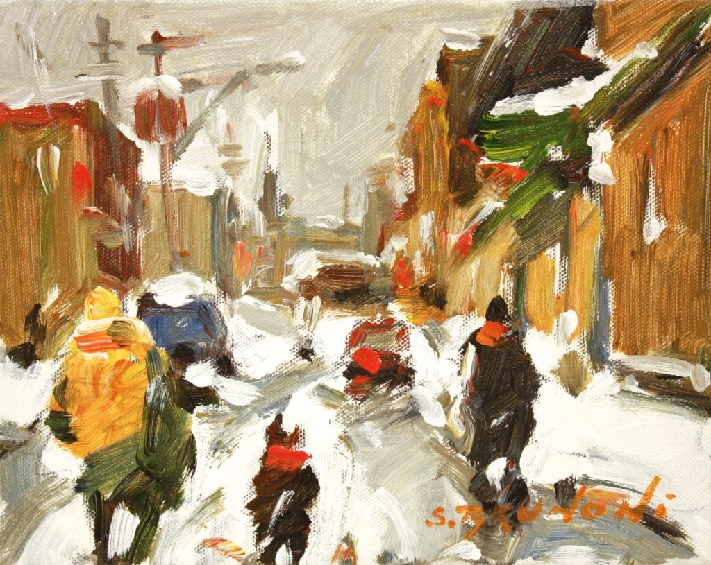 Rue de Montreal 8 x 10  Acrylic on Canvas $ 975