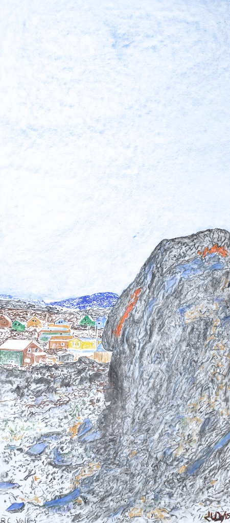 RC Valley<Br>47.5 x 20<Br>Coloured Pencil on Paper<Br>$ 3500