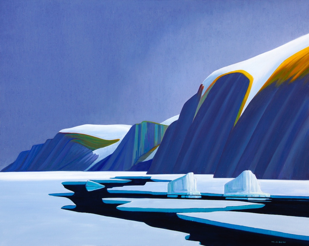 Breaking Ice - Baffin Island 48 x 60 Oil on canvas SOLD