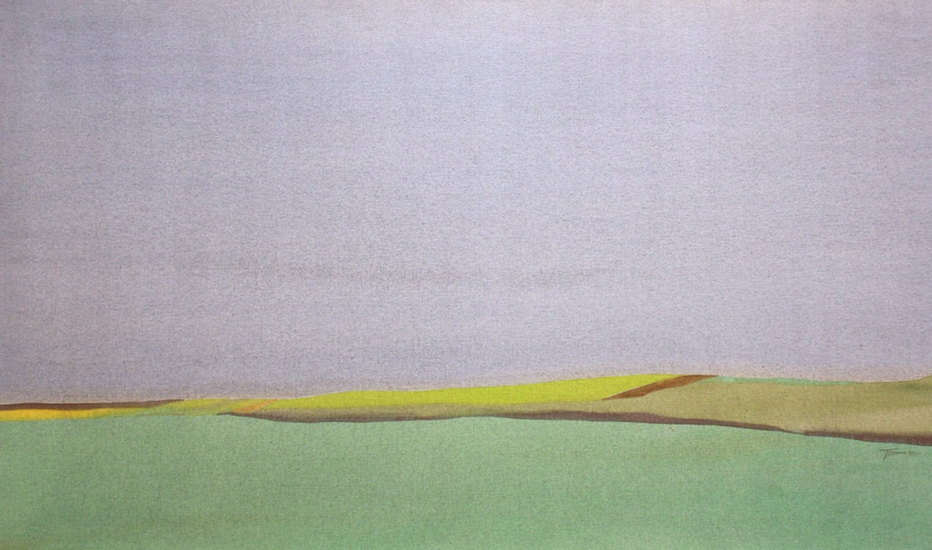 Takao Tanabe The Land 17-73  - Banff 33 x 56 Inches Acrylic on Canvas.  SOLD