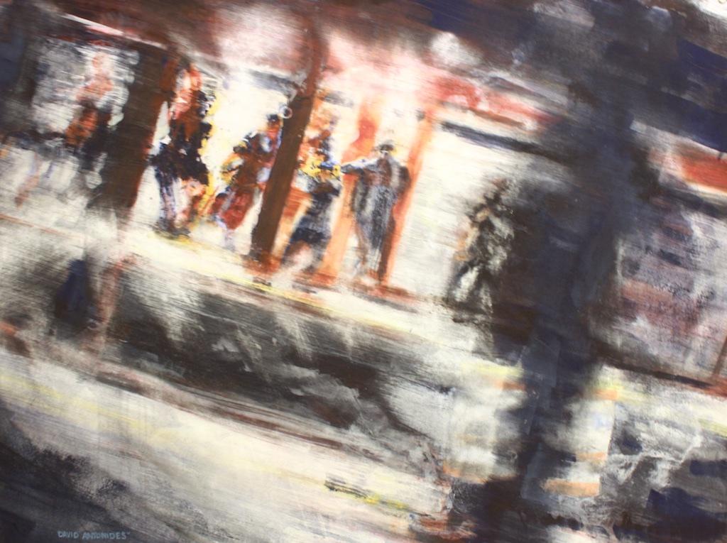 David Antonides<br>Subway Jazz<br>28.5 x 38<br>Watercolour, Ink