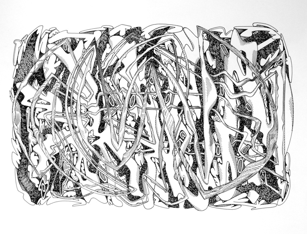 Luke Ramsey<br>Untitled16E<br>13 x 17<br>Ink Drawing