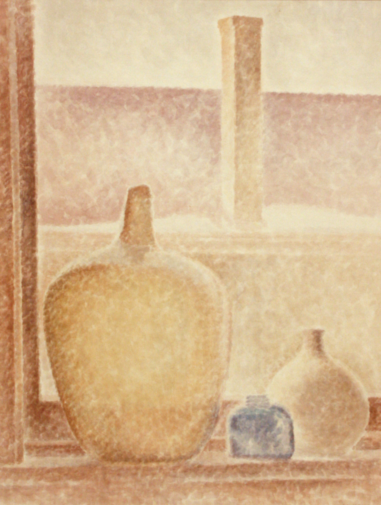 L.L. Fitzgerald<br>View from Artists Window<br>23 x 17.5<br>Watercolour<br>SOLD