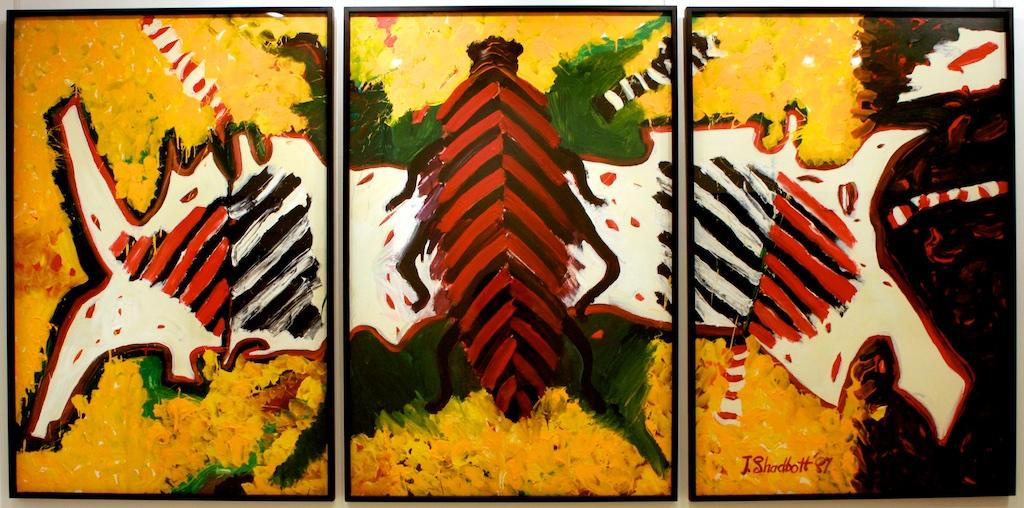 Jack Shadbolt<br>Bug / Hip Bone / Rhino<br>60 x 120<br> SOLD