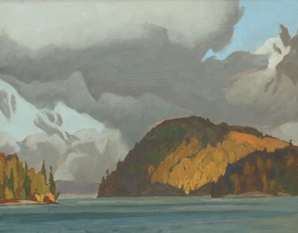 A.J. Casson<br>Gibralter Point-Lake Joe<br>12 x 15<br>Oil on Board<br>SOLD