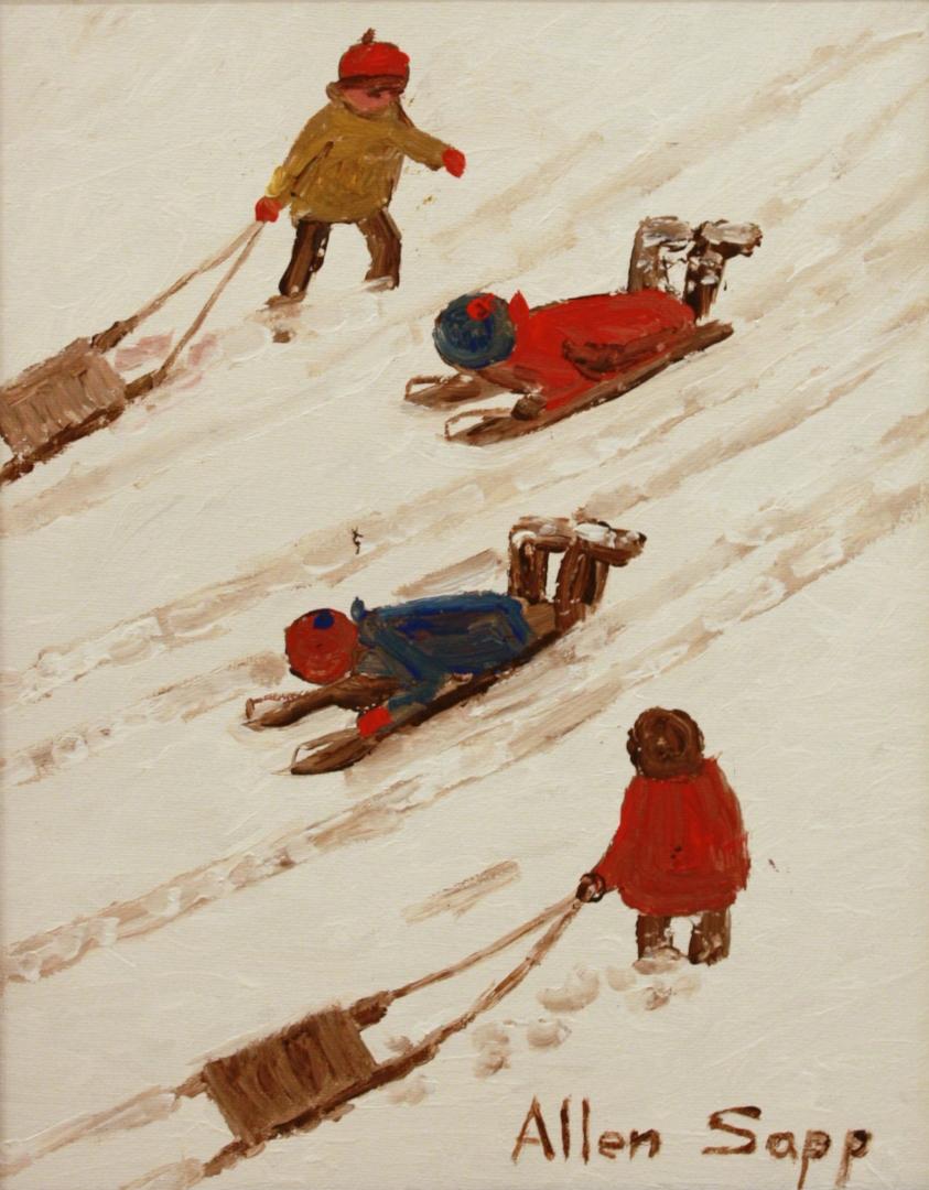 Allen Sapp<br>14 x 11<br>Acrylic on Canvas<br>SOLD